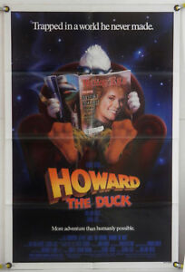 HOWARD-THE-DUCK-LOT-OF-3-1986-LEA-THOMPSON-ORIGINAL-ONE-SHEET-MOVIE-POSTER