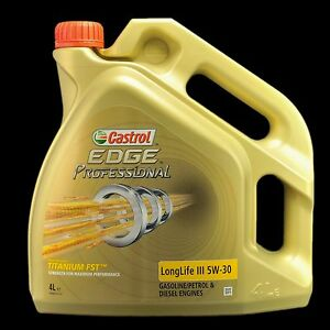castrol edge professional longlife iii 5w 30 fst 4liter audi vw 50400 50700 ebay. Black Bedroom Furniture Sets. Home Design Ideas