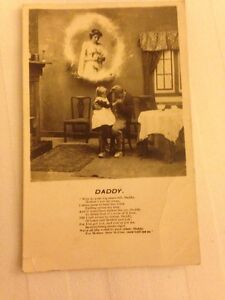 Song-Card-034-Daddy-034-Religious-Bamforth-Postcard-Stamped
