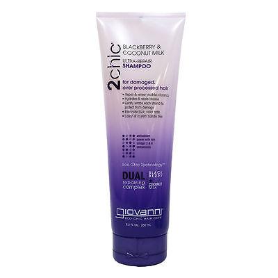 Giovanni 2Chic Blackberry & Coconut Milk Ultra-Repair Shampoo 8.5oz / 250ml