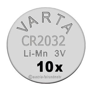 034-10x-CR2032-Lithium-Batterien-Knopfzellen-3Volt-VARTA