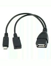 Micro USB Host OTG Cable Power for Samsung Htc/nexus LG PHONES and Tablets Tax0