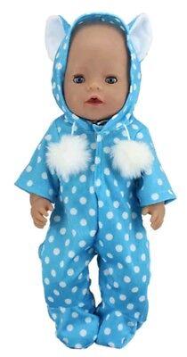 Blau Onessis Zb Neueste Kollektion Von Puppenkleidung 43 Cm Neu Baby Born/sister