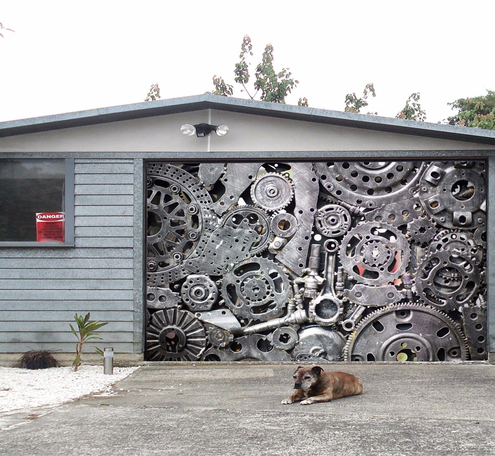 3D Gear pattern 33 Garage Door Murals Wall Print Decal Wall Deco AJ WALLPAPER UK