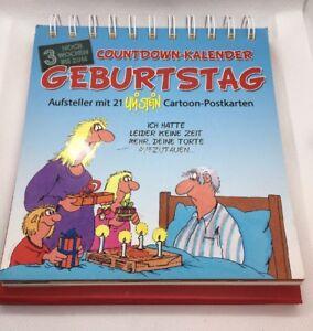 Details Zu Uli Stein Countdown Kalender Geburtstag Mit 21 Cartoon Postkarten Neu