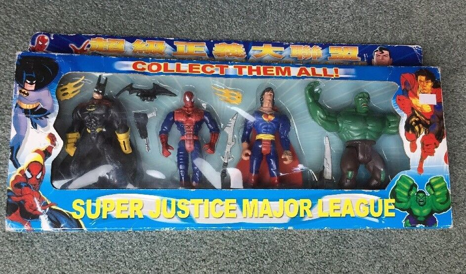 Dc - universum, die hall of justice, super justice major league, japan - import seltener