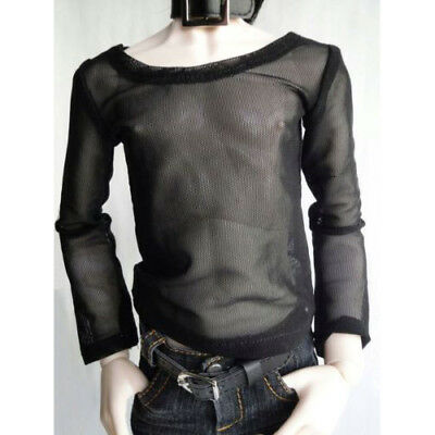 06# Black Fishing Net T-shirt Is 1//4 MSD DOD AOD LUTS BJD Dollfie PF