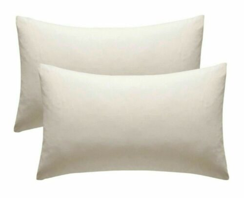 Housewife 2 x Pillow Cases Pair Polycotton Bedroom Pillow Cover Pillow Slip
