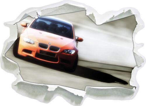 Orange BMW 3d-Look papier mural autocollant-sticker
