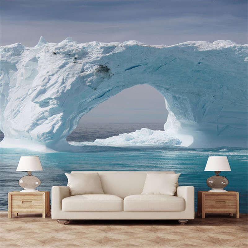 Pier Type Snow Bridge3D Full Wall Mural Photo Wallpaper Printing Home Kids Decor