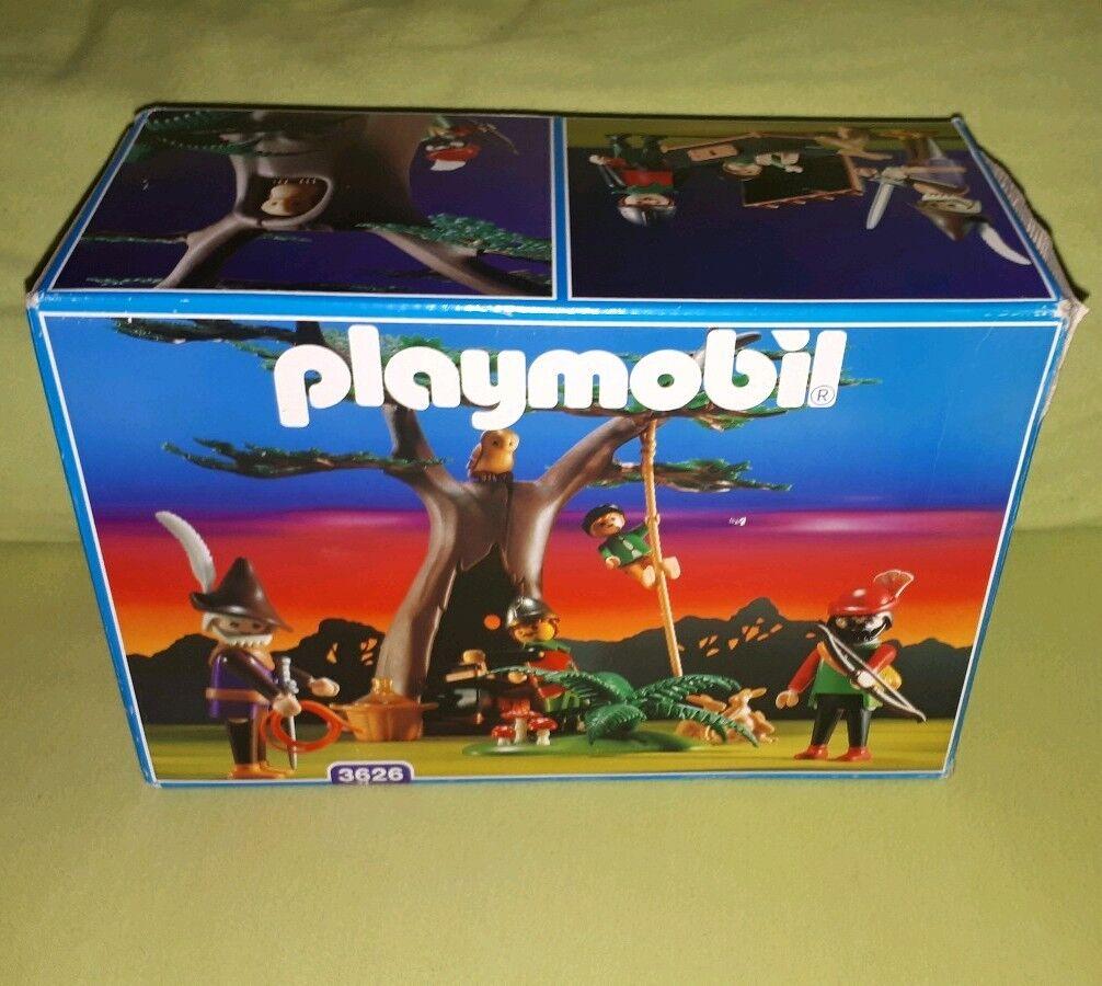 Playmobil 3626 Räuber-Baumversteck Eiche Eiche Eiche Robin Hood OVP BA 1994 komplett Rarität 86eb51
