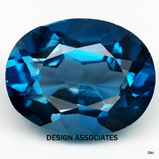 LONDON BLUE TOPAZ NATURAL 9x7 MM OVAL CUT 1 PIECE SET $13.99 AAA
