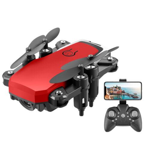 4K HD Mini Drone RC Aerial Camera Foldable Quadcopter 2.4G WIFI   Black//Red