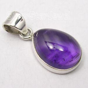 925-Sterling-Silver-Cabochon-Amethyst-8-6-Ct-Pendant-2-5-cm-Women-039-s-Jewelry