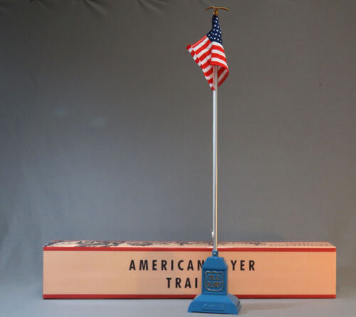 MTH LIONEL STANDARD GAUGE AMERICAN FLYER OLD GLORY FLAG POLE 2050 11-90078 NEW