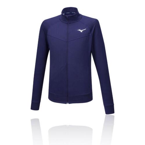 Mizuno Homme Zip complet Formation Gym Fitness Veste Homme Bleu Sports Running