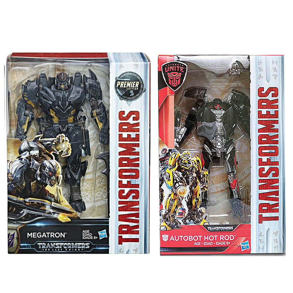 Transformers Last Knight Premier Edition Voyager Megatron + Deluxe Hot Rod  UK