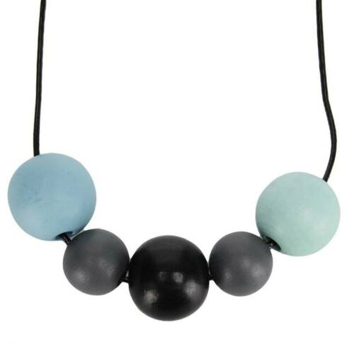 Wooden Bead Geometry Necklace Colourful Balls Fashionable Women Necklace C