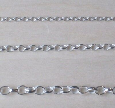 GENUINE 925 STERLING SILVER MICRO BELCHER LINK NECKLACE VARIOUS LENGTHS 1mm