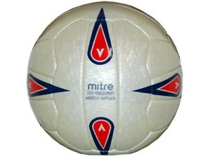 Mitre-Iso-England-Match-Replica-Fussball-Spielball-Match-Ball-Gr-5-Football-weiss