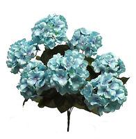 21 Hydrangea Bush Aqua Blue Pool Silk Wedding Flowers Bouquets Centerpieces