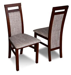 Luxus Design Polster Stuhl Stuhle Sitz Lehn Massivholz Esszimmer