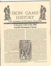 Iron Game History Bodybuilding Magazine Arnold Strongman Classic 12-05 vol 9 #2