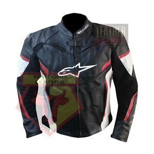ALPINESTARS-BLACK-COWHIDE-LEATHER-MOTORBIKE-MOTORCYCLE-JACKET
