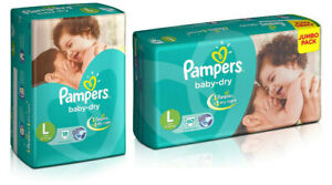 Pampers Baby Dry Large Size Diapers