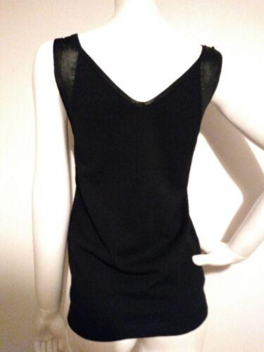 Detail Designer Top brand Mesh New Reiss Size Rhea Knitted S Black TvPxHv