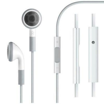 3.5mm Earphone Headset With Remote Mic for Apple iPhone 5 4/4S  White