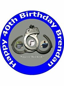 Image Is Loading 7 5 POLICE POLICEMAN BIRTHDAY CAKE TOPPERS PERSONALISED