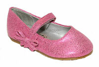 NEW GIRLS PINK PARTY FLAT DOLLY PUMPS SUMMER CASUAL SHOES INFANTS UK SIZE 3-9