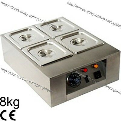 Supply 8kg Commercial Electric Chocolate Tempering Machine Melter Maker W/4 Melting Pot Chocolate Fountains