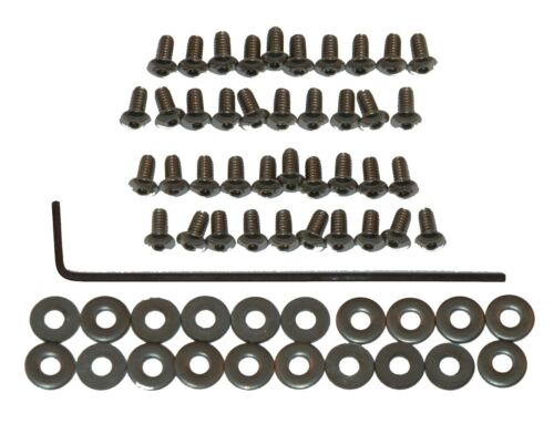 Washers /& Wrench For Customs 40 SILVER 2-56 Hexhead Button-Head Screw-In Rivets