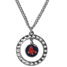 Boston Red Sox Rhinestone Necklace MLB Licensed Baseball Jewelry