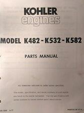Kohler K482 K532 K582 Twin Engine Parts 2 Manual S Lawn Riding Garden Tractor