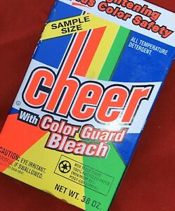 VTG-LAUNDRY-DETERGENT-CHEER-New-Unopened-Box-Neon-Rainbow-Color-Guard-Bleach-Wow