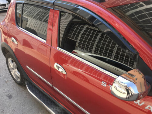 2008-2012 Dacia Sandero Chrome Full Mirror Cover 2Pcs Stainless Steel