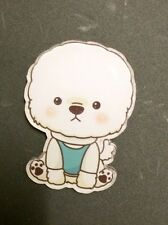 Cute bichon Frise Fluffy Dog Poodle Paws  Kitsch Funky Christmas Gift Brooch