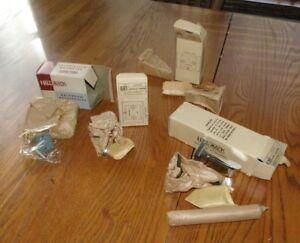 Mid-Century-Modern-NOS-Chrome-Bathroom-Hardware-Toilet-Paper-Hook-Toothbrush
