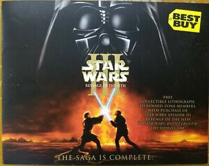 Star Wars Episode 3 Revenge Of The Sith Best Buy Exclusive Art Lithograph Ebay