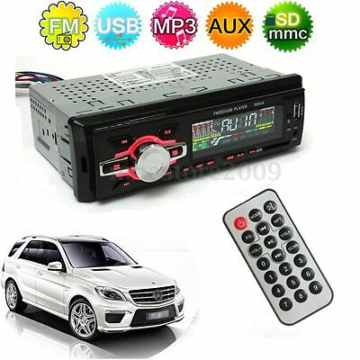 Car Stereo LCD Audio Headunit Radio SD FM USB MP3 Player AUX Without CD Reader
