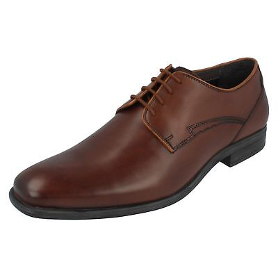 Hush Puppies 'Kane Maddow' Mens Leather Shoes in Brown with HPO2 Flex Technology