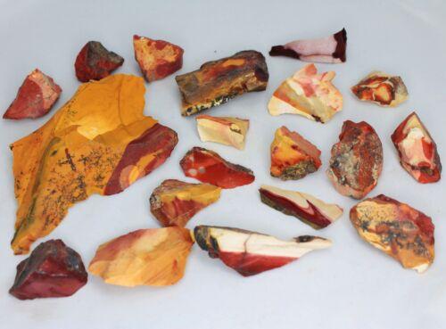 1pc Mookaite Jasper Rough Big 20g-250g Red Orange Yellow White Natural Gemstone