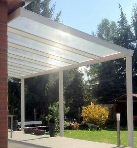 Terrassendach Aluminim 5x2 5m Alu Uberberdachung Weiss