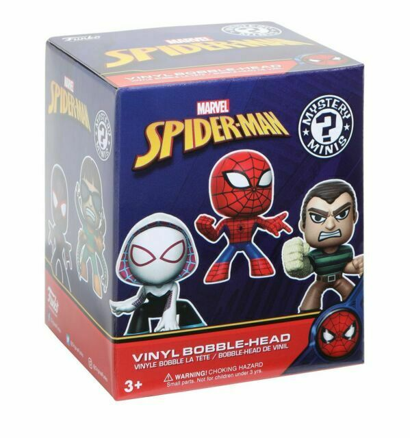 Funko Mystery Minis Marvel SPIDERMAN Bobblehead Figure CLASSIC SPIDER-MAN 1//8