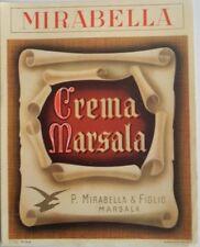 Marsala Vecchia etichetta crema marsala f.lli Mirabella vedi