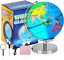 thumbnail 5 - Illuminated World Globe for Kids with Stand 8inch?Rewritable Colorful Easy-Read