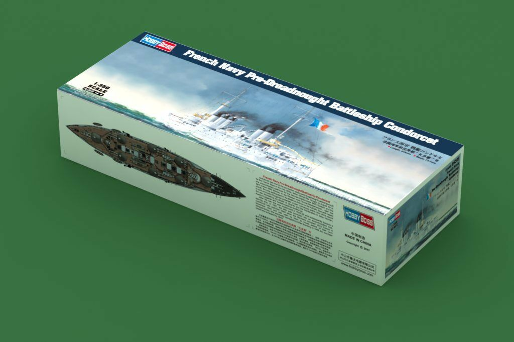 Hobbyboss 86505 1 350th scale French Navy Pre-Dreadnought Battleship Condorcet